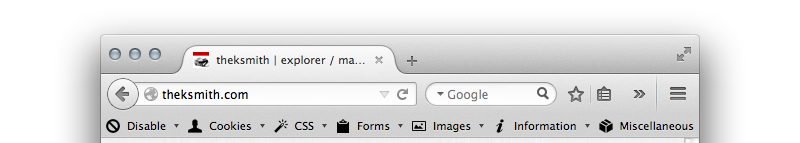favicon on browser tab